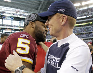 Photo - Jason Garrett is 4-2 as an NFL head coach. AP PHOTO