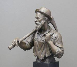 "Photo - ""My Cousin Jack,"" an $8,200 bronze of a Cornish miner by Utah sculptor Blair Buswell. PHOTO PROVIDED <strong></strong>"
