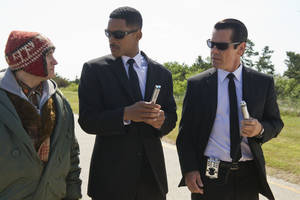 "Photo - (l to r) Michael Stuhlbarg, Will Smith and Josh Brolin in Columbia Pictures' ""Men in Black 3.""  Columbia Pictures. <strong>Wilson Webb</strong>"