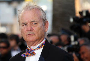 Photo -   Actor Bill Murray arrives for the opening ceremony and screening of Moonrise Kingdom at the 65th international film festival, in Cannes, southern France, Wednesday, May 16, 2012. (AP Photo/Joel Ryan)