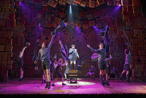 "Photo - This theater publicity image released by Boneau/Bryan-Brown shows the cast of ""Matilda The Musical,"" during a performance in New York. The New York Drama Critics' Circle has voted ""Vanya and Sonia and Masha and Spike"" as best play and ""Matilda"" as best musical. (AP Photo/Boneau/Bryan-Brown, Joan Marcus)"