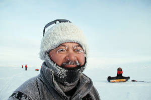 Photo - Perry Taaca sports a coating of frost during a recent trek to the North Pole.Photos courtesy of Doug Beal