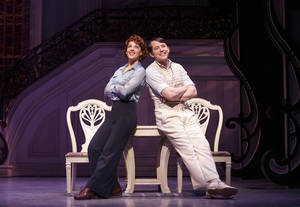 "Photo - This theater image released by Boneau/Bryan-Brown shows Jessie Mueller, left, and Matthew Broderick during a performance of ""Nice Work if You Can Get It,"" in New York. Producers announced Wednesday, April 24, 2013 that the production will play its final performance on Broadway on June 15, 2013. (AP Photo/Boneau/Bryan-Brown, Joan Marcus)"