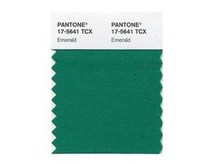 Photo - This emerald green color swatch released by Pantone is Pantone LLC's Color of the Year for 2013, beating out all the other shades of the rainbow. (AP Photo/Pantone)