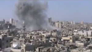 Photo -   This image made from video provided by Shaam News Network Friday, July 6, 2012, purports to show shelling in Homs, Syria. (AP Photo/Shaam News Network via AP video) THE ASSOCIATED PRESS HAS NO WAY OF INDEPENDENTLY VERIFYING THE CONTENT, LOCATION OR DATE OF THIS PICTURE.