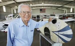 Photo - Wil Moore, seen here in 2010, was an aviation enthusiast who died Tuesday at his Edmond home at age 97. <strong>David McDaniel - The Oklahoman</strong>