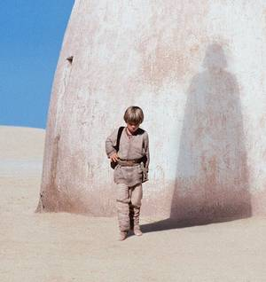 "Photo - FILE - In this publicity photo released by Lucasfilm Ltd., actor Jake Lloyd portrays Anakin Skywalker, a young Darth Vader, in ""Star Wars: Episode I, The Phantom Menace.""  (AP Photo/Lucasfilm Ltd., file) ORG XMIT: NYET398"
