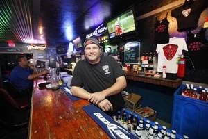 Photo - Nathan Cross, shown, manages Grady's 66 Pub in Yukon and is the brother of Grady Cross, guitarist for Cross Canadian Ragweed. <strong>Steve Gooch - THE OKLAHOMAN</strong>