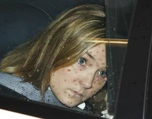 Photo - Raye Dawn Smith is seen in a Creek County sheriff's patrol car in this 2007 photo by Jim Beckel.