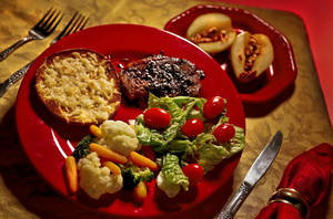 photo - Healthy valentines day pork chop on Friday, Feb. 8, 2013, in Oklahoma City, Okla. Photo by Chris Landsberger, The Oklahoman