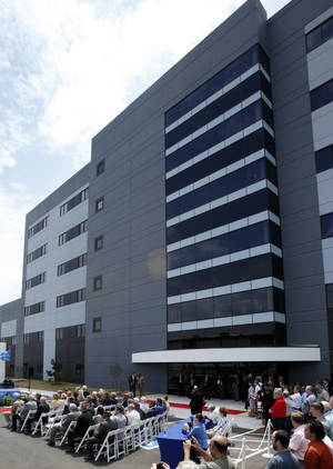 photo - A ceremony is held June 7 for the opening of Boeings newest office building. Photo by STEVE SISNEY,  THE OKLAHOMAN ARCHIVES