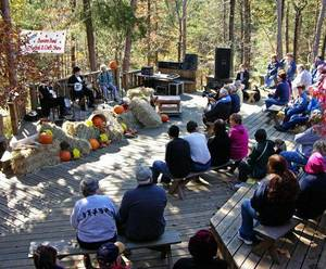 Photo - Crowds enjoy the lively music at the Beavers Bend Folk Festival.  <strong> - OKLAHOMA TOURISM</strong>