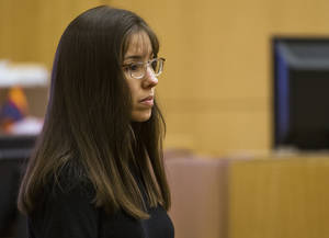 Photo - Jodi Arias  testifies  in Maricopa County Superior Court in downtown Phoenix Monday March 4, 2013.  Arias is on trial for the murder of Travis Alexander in 2008. (AP Photo/The Arizona Republic, Tome Tingle, POOL)