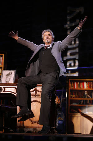 Photo - David Feherty has fun with the audience at Golf Channel's 'Feherty Live From the Ryder Cup', on Monday, September 24, 2012 at the Tivoli Theatre in Downers Grove, IL. (Ross Dettman/AP Images for Golf Channel)