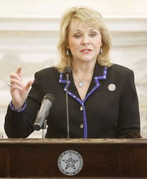 Photo - Governor Mary Fallin at the state Capitol in Oklahoma City, Tuesday March 13, 2013. Photo By Steve Gooch