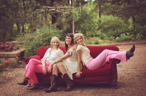 Photo -<br /><br /> Oklahoma-Kansas Western swing trio the Cherokee Maidens, from left, Jennifer Pettersen, Monica Taylor and Robin Macy, will perform Thursday at the Oklahoma International Bluegrass Festival in Guthrie. Photo provided<br /><br /> <strong></strong>