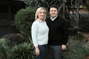 photo - Alexis and Brian Lux are shown at their home on NW 43, which they bought in May three years after moving to Oklahoma City from North Canton, Ohio. PHOTO PROVIDED