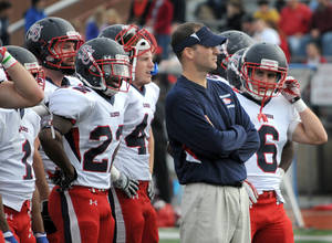 Photo - OKLAHOMA STATE UNIVERSITY / OSU / COLLEGE FOOTBALL: New Oklahoma State offensive coordinator Mike Yurcich is pictured during a 2012 game at Shippensburg University. PHOTO COURTESY BILL SMITH, Shippensburg Sports Information ------- KOD