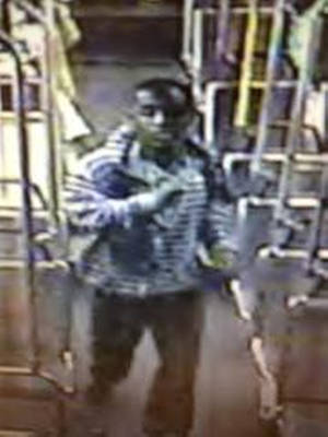 Photo -   This image from video provided by the Los Angeles County Sheriff's Department shows a suspect officials say is accused of raping a mentally disabled woman on a city bus. Police say the suspect boarded the bus with the woman in Culver City, followed her to the back of the bus and forced himself on her late Wednesday, Nov. 7, 2012. A lone witness tried to alert the bus driver that the rape was happening, but it continued for about 10 minutes until the suspect stopped and exited the bus. (AP Photo/Los Angeles County Sheriff's Department)