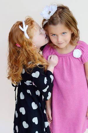 Photo - Lily Hernandez and Ava Devane pose for a publicity photo for Hearts for Hearing. Photo provided. <strong></strong>