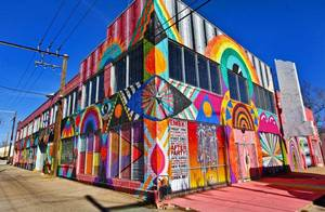 Photo - Left: The exterior of The Womb Art Gallery is shown Friday in Oklahoma City.  Photo by Chris Landsberger, The Oklahoman