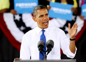Photo - President Barack Obama speaks during a rally last week in Virginia Beach, Va. AP Photo
