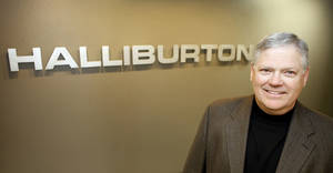 Photo - Eric Williams, midcontinent area vice president of Halliburton, poses in his Oklahoma Tower offices. Photo by David McDaniel <strong>David McDaniel</strong>