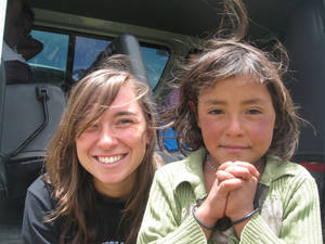 photo - Milarosa Braaten of Norman poses for a picture with a young girl in Guatamala. Photo provided <strong></strong>