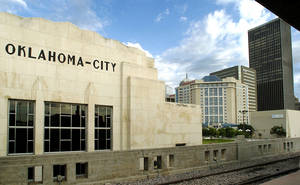 Photo - The Santa Fe Depot is a component of the downtown skyline. Photo by Jim Beckel, The Oklahoman <strong>Jim Beckel</strong>