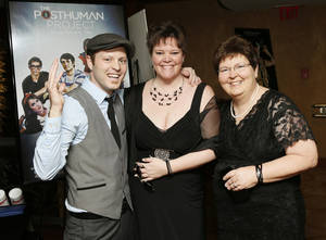 "Photo -  ""The Posthuman Project"" director Kyle Roberts, his sister, Amy Wenzel, and mother, Denise Batton. Photos by Nate Billings, The Oklahoman  <strong>NATE BILLINGS -  NATE BILLINGS </strong>"