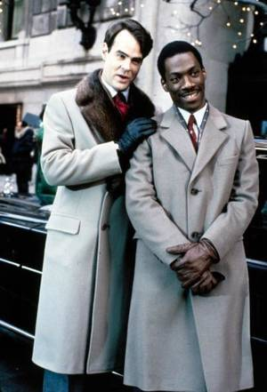 "Photo - Dan Aykroyd and Eddie Murphy in ""Trading Places."" Paramount. <strong></strong>"