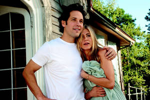 "Photo - George (Paul Rudd) and Linda (Jennifer Aniston) in ""Wanderlust"", the raucous new comedy from director David Wain and producer Judd Apatow. Universal Studios photo. <strong>Photo Credit: Gemma La Mana</strong>"