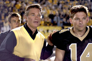 "Photo - Former Jenks High School football player Brian Presley, right, stars with Kurt Russell in ""Touchback,"" released today on DVD. PHOTO PROVIDED. <strong></strong>"