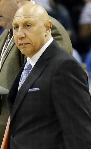 Photo - Memphis assistant coach Henry Bibby during Game 3 in the second round of the NBA basketball playoffs between the Oklahoma City Thunder and Memphis Grizzles at the FedExForum in Memphis, Tenn.,  Saturday, May 11, 2013. Memphis won, 87-81. Photo by Nate Billings, The Oklahoman