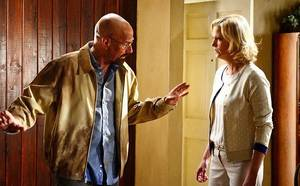 Photo - Walter White (Bryan Cranston) and Skyler White (Anna Gunn) - Breaking Bad _ Season 5, Episode 14 - Photo Credit: Ursula Coyote/AMC