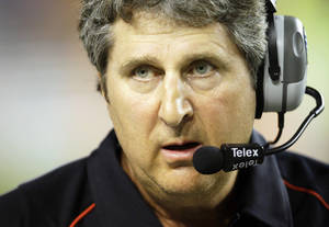 photo - Texas Tech coach Mike Leach introduced the world to such phrases as 'Mike's Pirate School' and 'fat little girlfriends.' AP photo