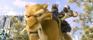 "Denis Leary is the voice of the tiger Diego, pictured here with Granny (Wanda Sykes) in the movie ""Ice Age: Continental Drift."" PHOTO PROVIDED. <strong></strong>"