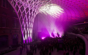 photo -   The new concourse is unveiled at King's Cross train station in London, Wednesday, March 14, 2012. The new King's Cross station concourse, will be a new major London landmark which is expected to serve some 45 million passengers a year, it will open for public public Monday, March 19. (AP Photo/Brynjar Gauti)
