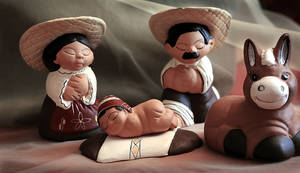 photo - Left: This simple Nativity scene is from Peru.