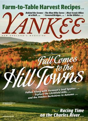 Photo - This image supplied by Yankee Magazine shows the cover of the magazine's annual September-October issue. The edition offers travel ideas for hiking in the White Mountains in New Hampshire,  visiting the Berkshires of Western Massachusetts and more. (AP Photo/Yankee Magazine)