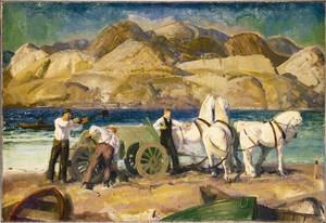 &quot;The Sand Cart,&quot; a 1917 oil by George Wesley Bellows
