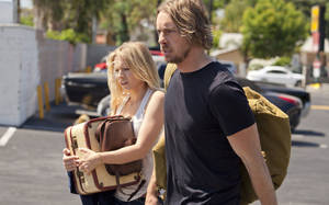"Kristen Bell, left, and Dax Shepard in a scene from ""Hit and Run."" OPEN ROAD FILMS PHOTO <strong>Jeffrey Reed</strong>"