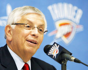 Photo - NBA commissioner David Stern ended the latest bargaining session with the league's referees. Photo BY NATE BILLINGS, THE OKLAHOMAN archive
