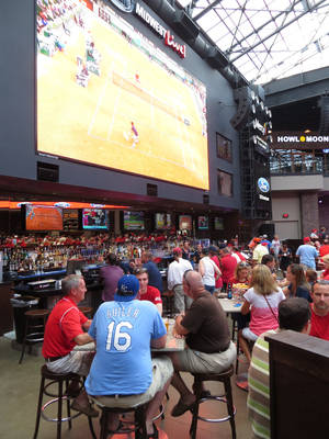 Photo -  Fox Midwest Sports Live! at Ballpark Village — a great venue for sports and live entertainment. Photo by Elaine Warner, for The Oklahoman   <strong></strong>