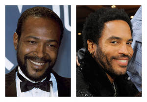 Photo -   FILE - This combination of 1983 and 2012 file photos shows Marvin Gaye, left, and Lenny Kravitz. Kravitz has signed on for his first leading film role, playing Gaye in a biopic that will be shot in 2013, according to his publicist on Tuesday, Nov. 27, 2012. (AP Photo/Doug Pizac, Chris Pizzello)