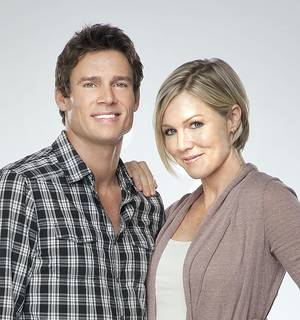 "Photo - Ethan Erickson and Jennie Garth star in ""Accidentally in Love,"" which airs at 8 p.m. Saturday on the Hallmark Channel. Hallmark photo"