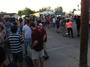 Crowds gather outside The Opolis, 113 Crawford, in Norman for day two of the Norman Music Festival. Organizers predict attendance will reach 45,000 on Saturday. Photos by Kyle Roberts, for the oklahoman