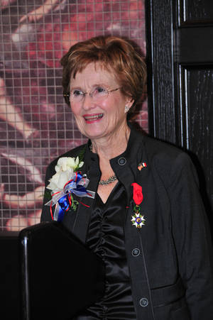 Photo - Barbara Thompson wearing her newly awarded medal at the Tulsa Summit Club. Photo provided. <strong></strong>