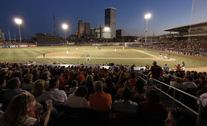 Photo - UNIVERSITY OF OKLAHOMA / OKLAHOMA STATE UNIVERSITY / BEDLAM / COLLEGE BASEBALL / CROWD: Fans watch OSU take on OU in the fourth inning at ONEOK Field, Friday, May 7, 2010. STEPHEN HOLMAN/Tulsa World