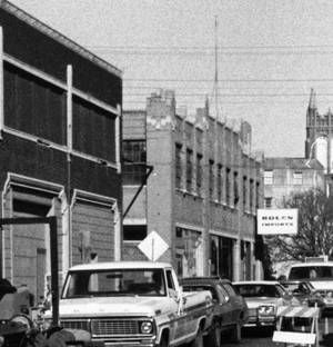 Photo - The former Guardian Garage and neighboring Packard Building can be seen in this 1970s-era photo Oklahoman Archives Photo